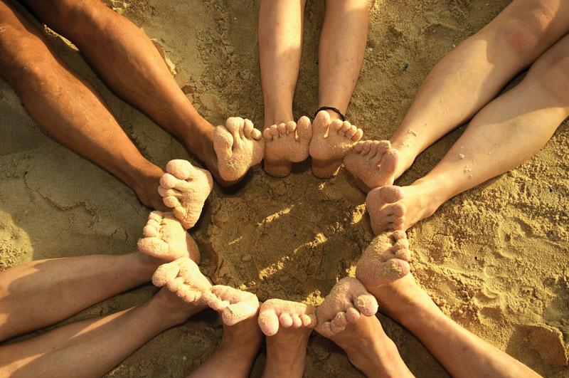 More Feet at the Beach